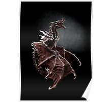 One Alduin dragon from Skyrim game  Poster