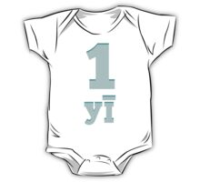 Baby learns to say the number one in Chinese blue One Piece - Short Sleeve