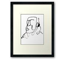 Ink Head Framed Print