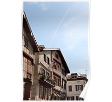 Sea Side Houses - Basque Country, France. Poster