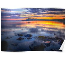 Sunset at Strangford Lough Poster