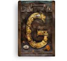 Steampunk - Alphabet - G is for Gears Canvas Print