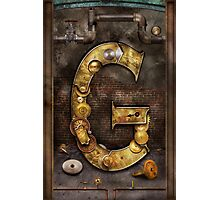 Steampunk - Alphabet - G is for Gears Photographic Print