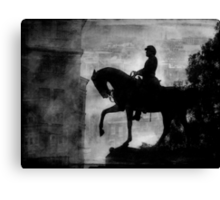 A Step Back in Time (Black & White Version) Canvas Print
