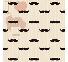 Vintage retro hipster mustache wallpaper Photographic Print