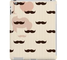 Vintage retro hipster mustache wallpaper iPad Case/Skin
