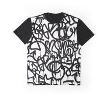 Black and White Graffiti Graphic T-Shirt