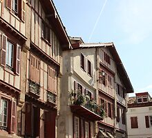 Sea Side Houses II - Basque Country, France. by Tiffany Lenoir