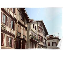 Sea Side Houses II - Basque Country, France. Poster