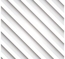 Abstract 3D stripe background, white by BlueLela