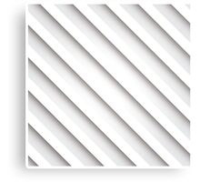 Abstract 3D stripe background, white Canvas Print