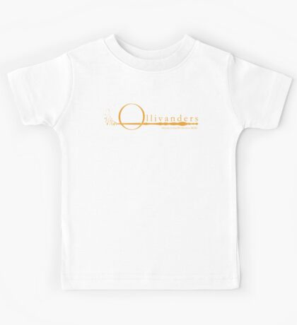 Ollivanders Logo in Yellow Kids Tee