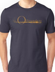 Ollivanders Logo in Yellow Unisex T-Shirt