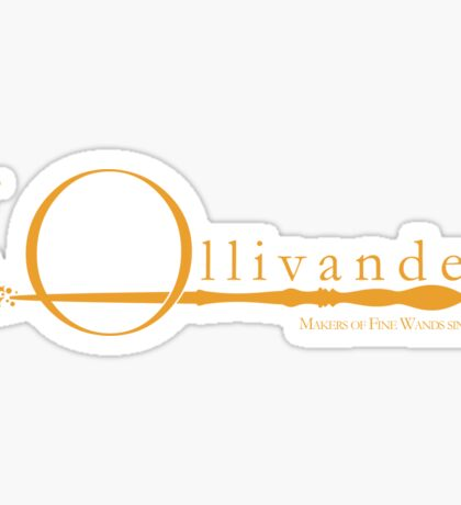 Ollivanders Logo in Yellow Sticker
