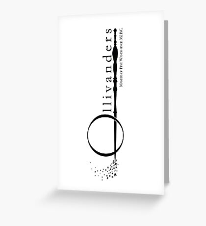 Ollivanders Logo in White Greeting Card