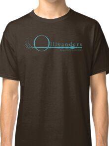 Ollivanders Logo in Blue Classic T-Shirt