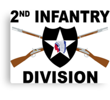 2nd Infantry Division - Crossed Rifles Canvas Print