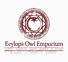 Eeylops Owl Emporium in Red Kids Tee