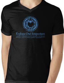 Eeylops Owl Emporium in Blue Mens V-Neck T-Shirt