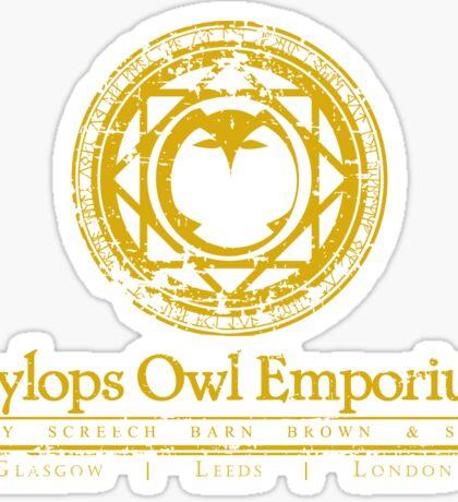 Eeylops Owl Emporium in Yellow Sticker