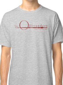 Ollivanders Logo in Red Classic T-Shirt