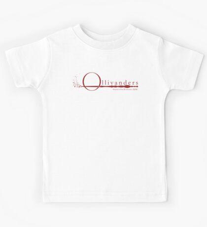 Ollivanders Logo in Red Kids Tee