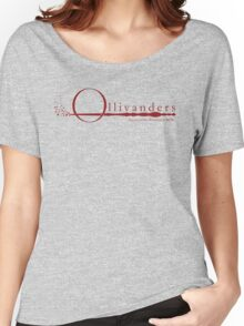 Ollivanders Logo in Red Women's Relaxed Fit T-Shirt