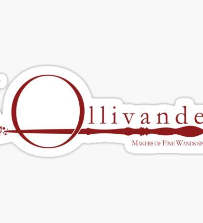Ollivanders Logo in Red Sticker
