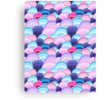 Multicolored pattern of seashells Canvas Print