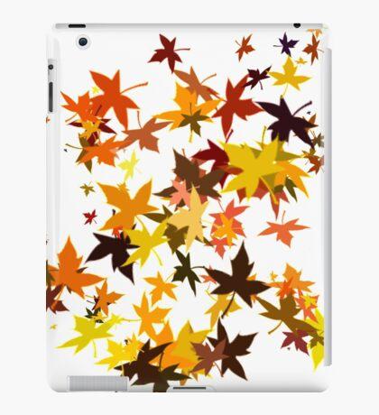 Leaves flying like birds iPad Case/Skin