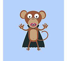 Halloween Vampire Monkey Photographic Print