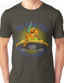 Samus Aran Pin-Up Starburst Unisex T-Shirt