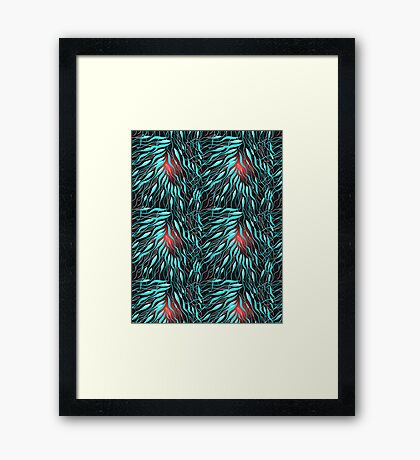 Graphic abstract pattern Framed Print