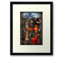 Steampunk - Alphabet - H is for Hats Framed Print