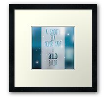 Quote, inspirational poster, typographical design, blurred background Framed Print