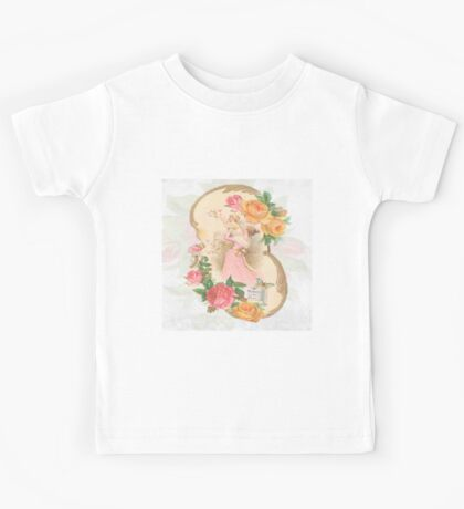 Victorian mother and child,flowers,floral design, shabby chic, country chic, retro,old fashioned, modern,trendy,reproduction Kids Tee