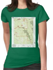 USGS TOPO Map California CA Board Camp Mountain 100572 1997 24000 geo Womens Fitted T-Shirt