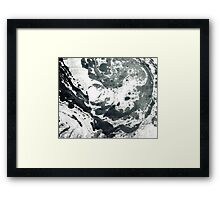 Watercolor B&W Framed Print