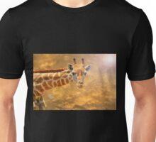 Giraffe Background - African Wildlife - The Golden Beauty in Nature Unisex T-Shirt