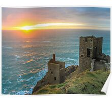 Crown Mines Botallack, Cornwall Poster
