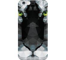 Geometric polygon white tiger head, triangle pattern design iPhone Case/Skin