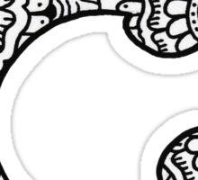 zentangle c: black/white  Sticker