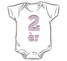 Baby learns to say the number two in Chinese pink One Piece - Short Sleeve