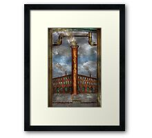 Steampunk - Alphabet - I is for Industry Framed Print