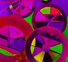 Spheres circles. Abstract paintings in vibrant modern colors by tanabe