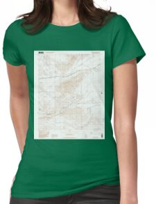 USGS TOPO Map California CA Cave Mountain 289068 1996 24000 geo Womens Fitted T-Shirt