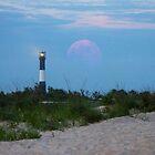 Lighthouse Super Moon by Nicole Jeffery
