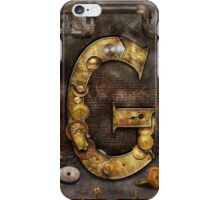Steampunk - Alphabet - G is for Gears iPhone Case/Skin