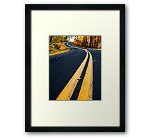 road in autumn Framed Print