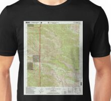 USGS TOPO Map California CA Catclaw Flat 100056 1996 24000 geo Unisex T-Shirt